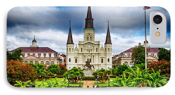 Jackson Square New Orleans Phone Case by Jarrod Erbe