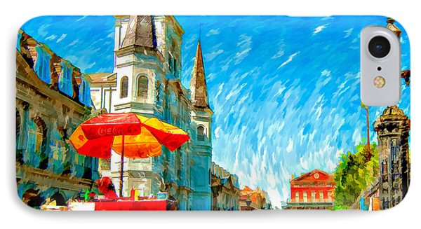 Jackson Square Painted Version Phone Case by Steve Harrington