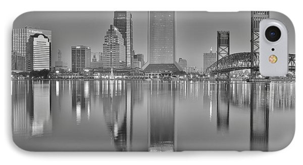 Jacksonville Florida Black And White Panoramic View IPhone Case