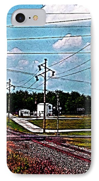 Jacksonville Il Rail Crossing 2 IPhone Case