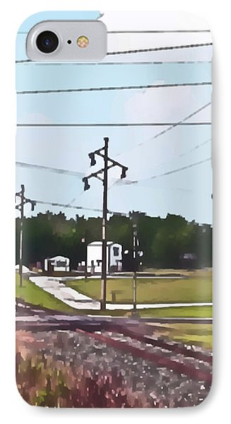 Jacksonville Il Rail Crossing 3 IPhone Case