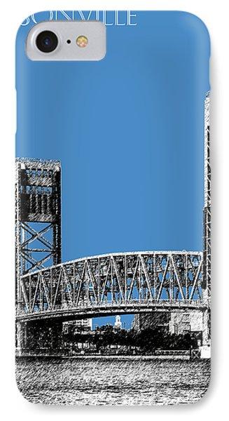 Jacksonville Skyline 2  Main Street Bridge - Slate Blue Phone Case by DB Artist