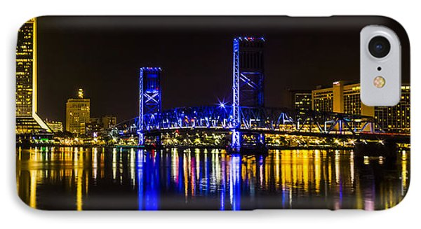 IPhone Case featuring the photograph Jacksonville Skyline by Paula Porterfield-Izzo