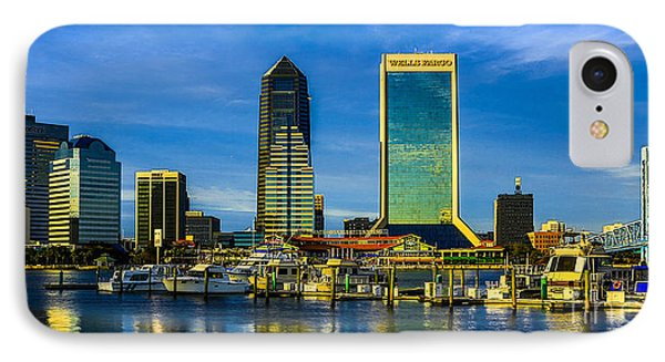 IPhone Case featuring the photograph Jacksonville Skyline Sunset by Paula Porterfield-Izzo