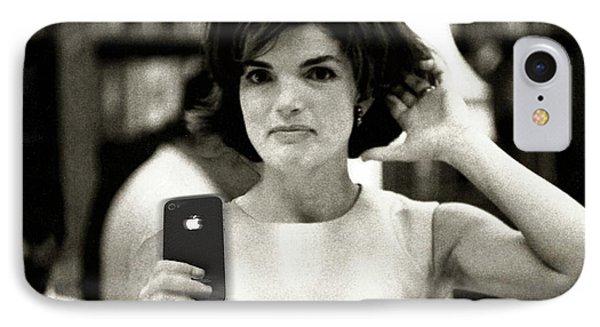 Jacky Kennedy Takes A Selfie IPhone Case by Tony Rubino