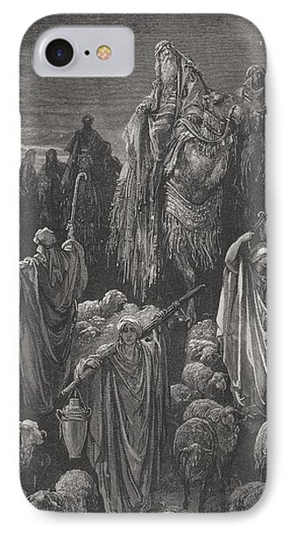 Jacob Goeth Into Egypt Phone Case by Gustave Dore