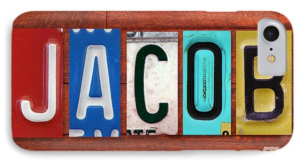 Jacob License Plate Name Sign Fun Kid Room Decor. IPhone Case