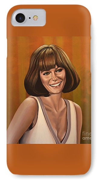 Jacqueline Bisset Painting IPhone Case
