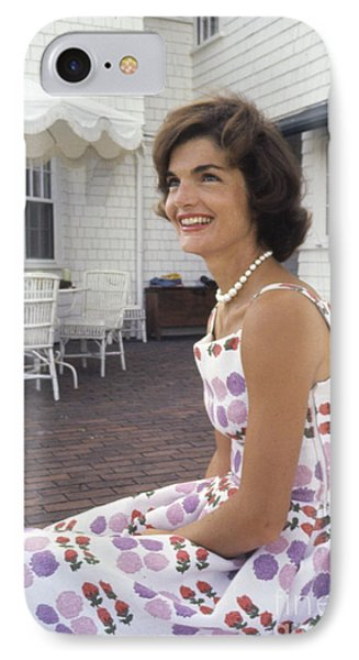 Jacqueline Kennedy At Hyannis Port 1959 IPhone Case by The Harrington Collection