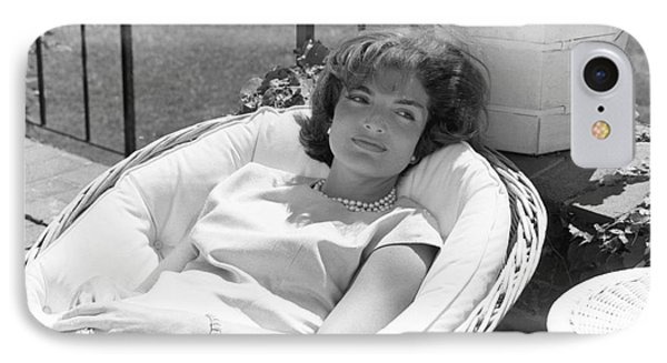 Jacqueline Kennedy Relaxing At Hyannis Port 1959. IPhone Case by The Harrington Collection