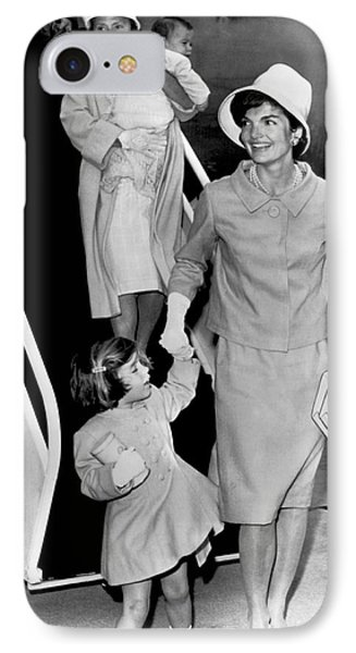 Jacqueline Kennedy With Child IPhone Case by Underwood Archives