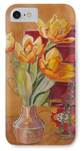 Jade And Tulips IPhone Case by Jenny Armitage