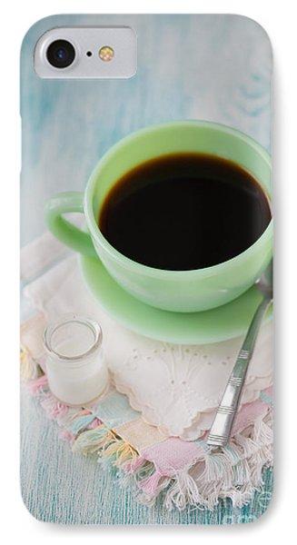 Jadite Coffee Cup Phone Case by Kay Pickens