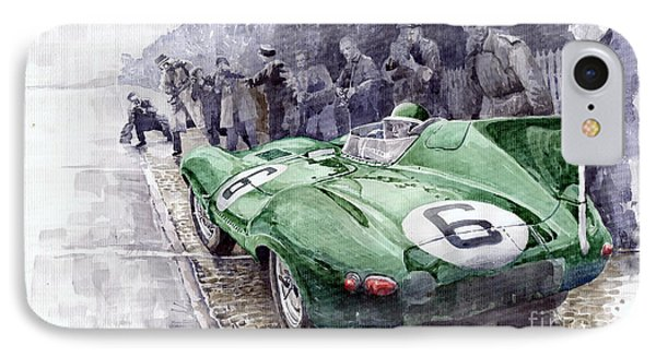 Jaguar D-type  1955 Le Mans  IPhone Case by Yuriy Shevchuk