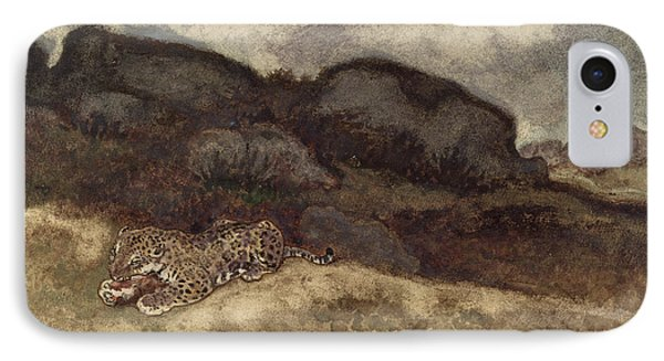 Jaguar Devouring Its Prey Phone Case by Antoine Louis Barye