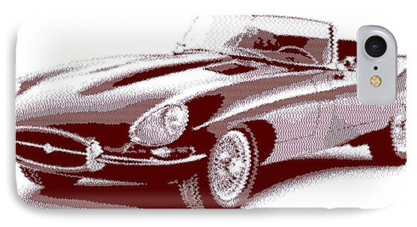 Jaguar E-type - Cross Hatching IPhone Case