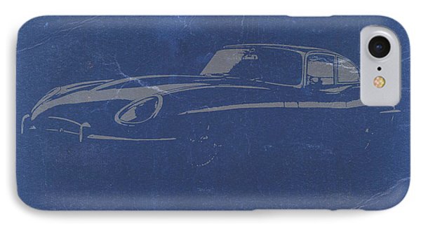 Jaguar E Type IPhone Case by Naxart Studio