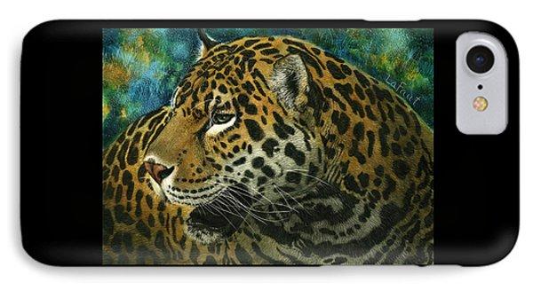 Jaguar IPhone Case by Sandra LaFaut