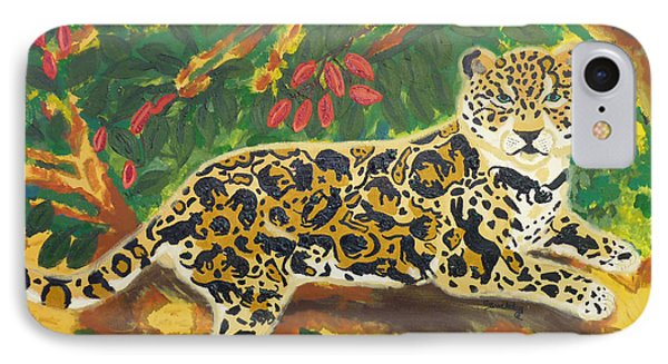 Jaguars In A Jaguar IPhone Case by Cassandra Buckley