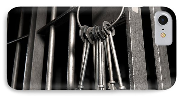 Jail Cell With Open Door And Bunch Of Keys Phone Case by Allan Swart