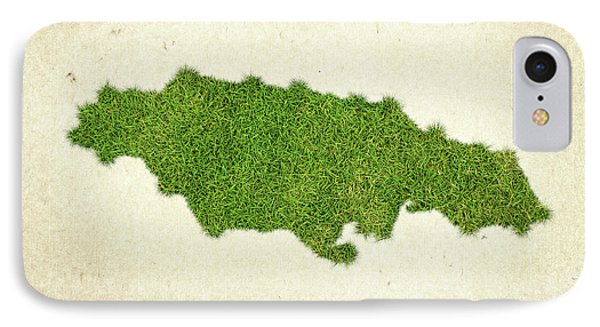 Jamaica Grass Map IPhone Case by Aged Pixel