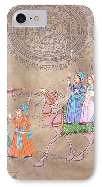Jaipur Court Stamp IPhone Case