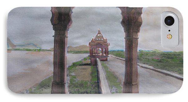 IPhone Case featuring the painting Jaisamand by Vikram Singh