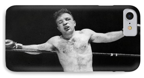 Jake raging Bull Lamotta IPhone Case by Underwood Archives