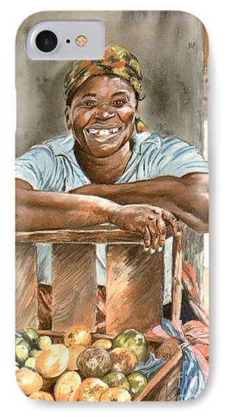 Jamaican Fruit Seller IPhone Case by John Clark
