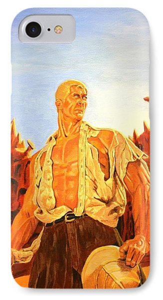 James Bama's The Man Of Bronze IPhone Case by Robert Link