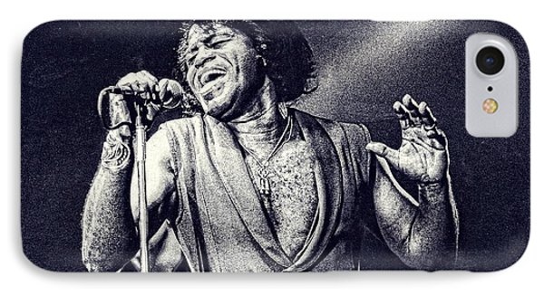 James Brown On Stage IPhone Case by Maciek Froncisz
