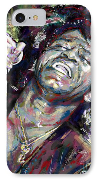 James Brown Painting IPhone Case by Ryan Rock Artist