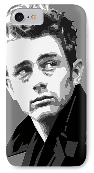 James Dean In Black And White IPhone 7 Case by Douglas Simonson