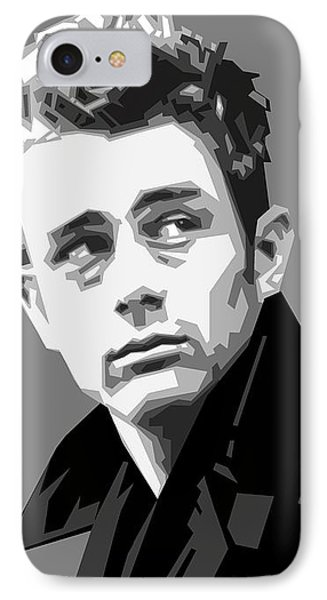 James Dean In Black And White IPhone Case by Douglas Simonson