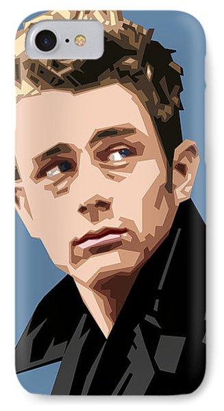 James Dean In Color IPhone 7 Case by Douglas Simonson