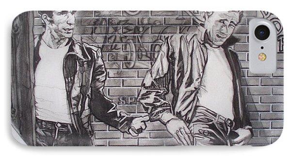 James Dean Meets The Fonz Phone Case by Sean Connolly