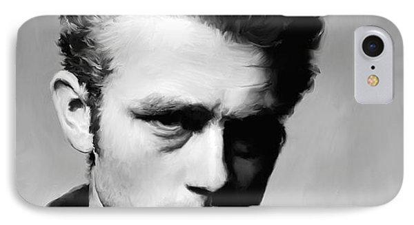 James Dean - Portrait IPhone 7 Case by Paul Tagliamonte