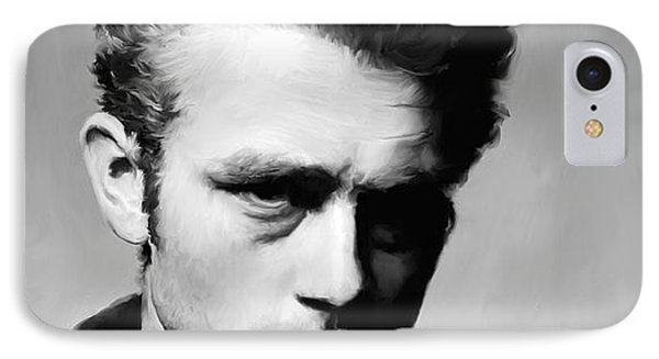 James Dean - Portrait IPhone Case by Paul Tagliamonte