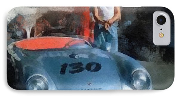 James Dean With His Spyder IPhone Case