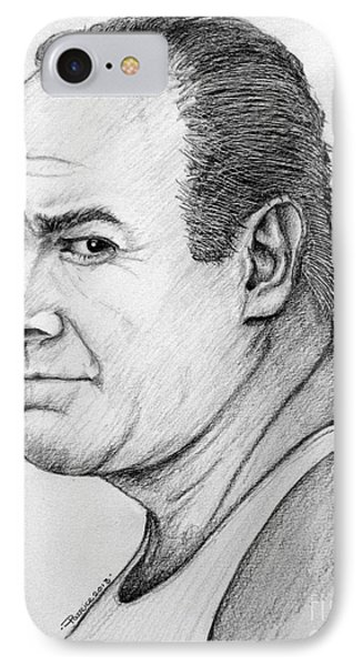 IPhone Case featuring the drawing James Gandolfini by Patrice Torrillo