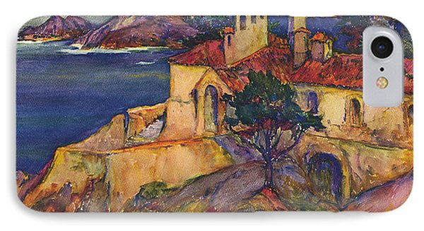 James House Carmel Highlands California By Rowena Meeks Abdy 1887-1945  IPhone Case by California Views Mr Pat Hathaway Archives