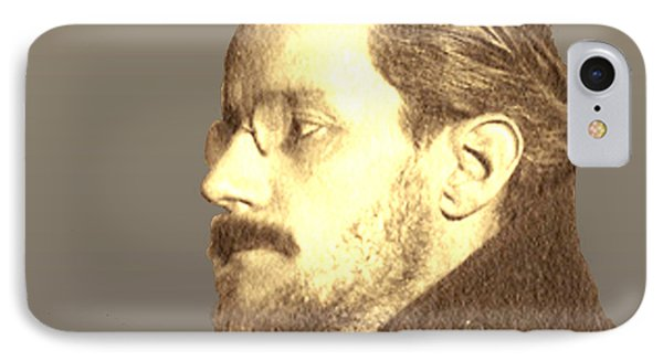 IPhone Case featuring the digital art James Joyce by Asok Mukhopadhyay