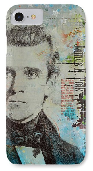 James K. Polk Phone Case by Corporate Art Task Force
