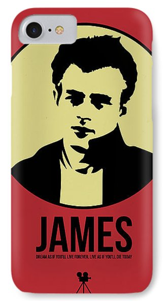 James Poster 2 IPhone Case by Naxart Studio