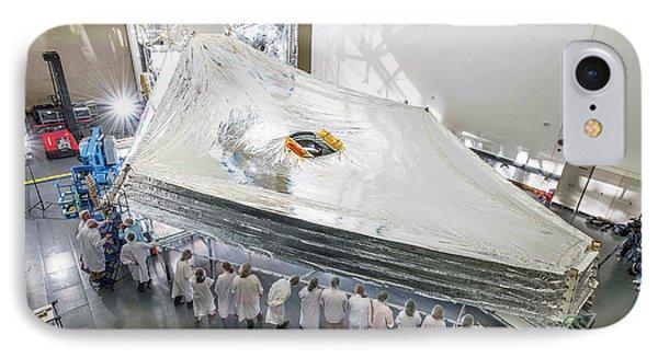 James Webb Space Telescope Sunshield IPhone Case