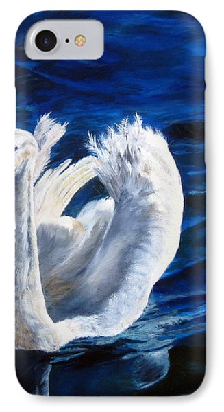Jamie's Swan Phone Case by LaVonne Hand