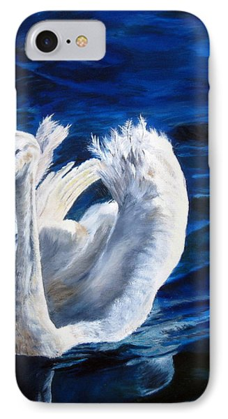 IPhone Case featuring the painting Jamie's Swan by LaVonne Hand
