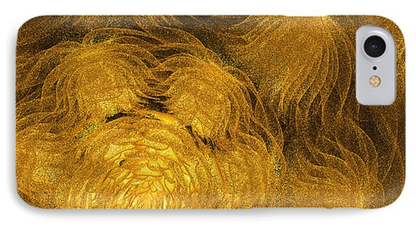 Jammer Anemones In Gold IPhone Case by First Star Art
