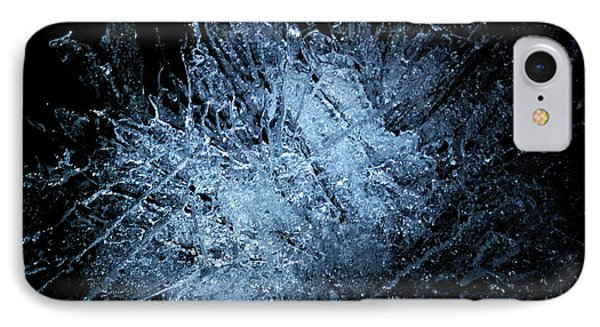 IPhone Case featuring the photograph jammer Frozen Cosmos by First Star Art