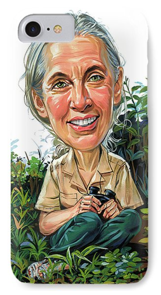 Jane Goodall IPhone Case by Art